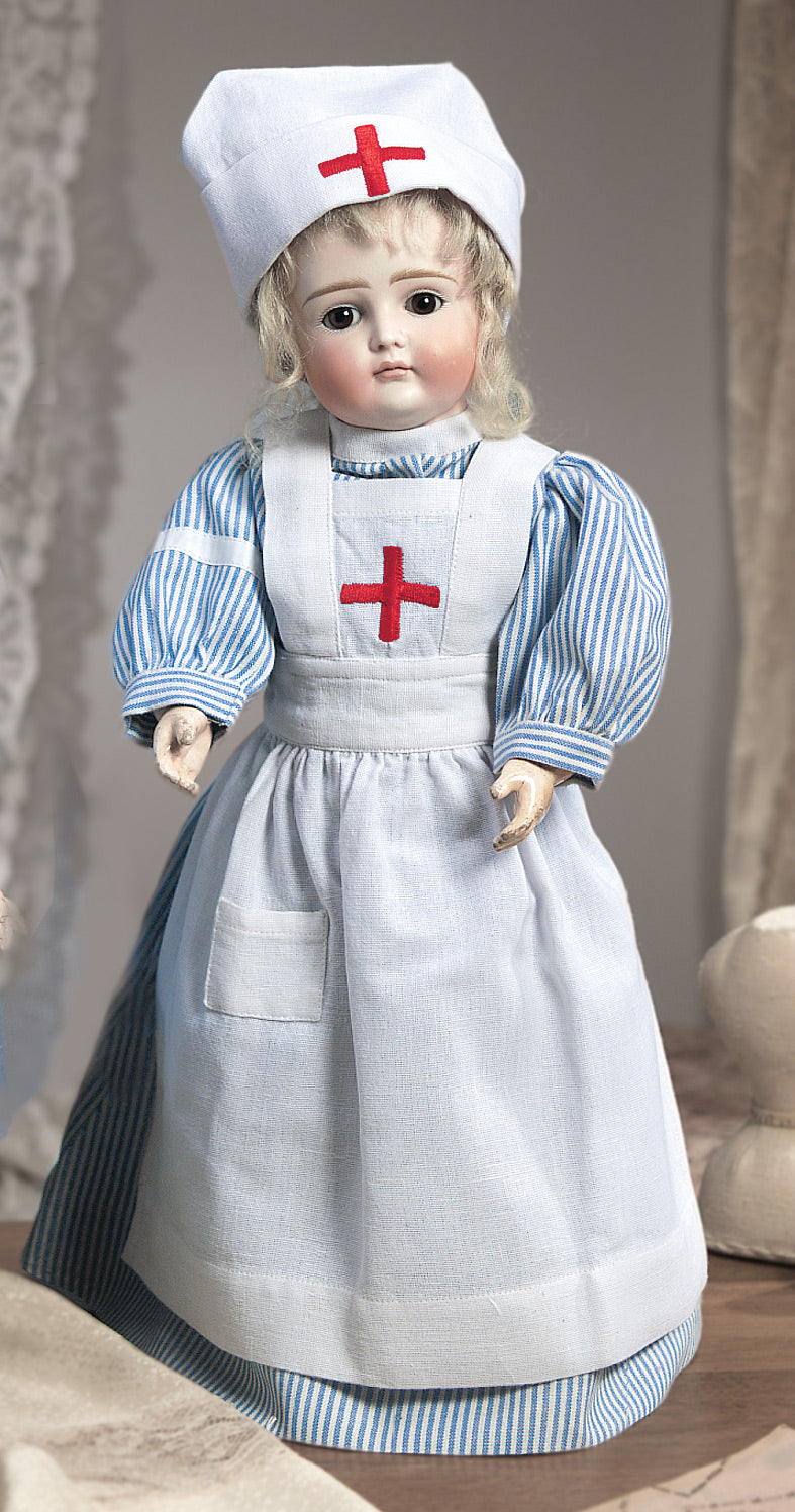 Cotton Three-Piece Nurse's Costume