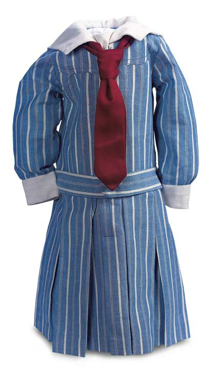 Blue & White Striped Cotton School Dress