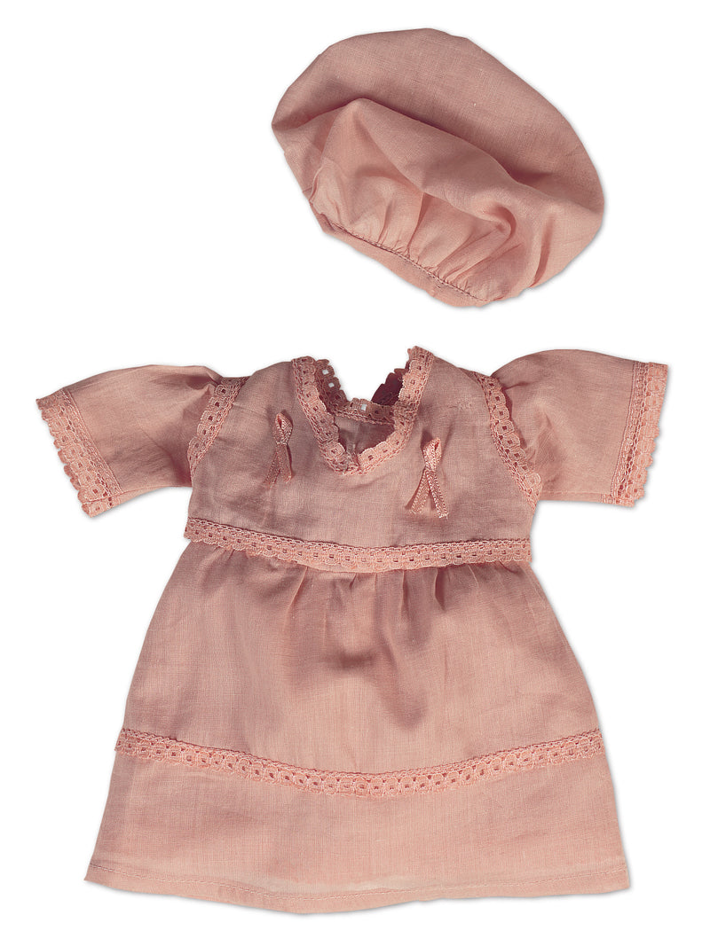 Rose Sheer Muslin Dress & Cap
