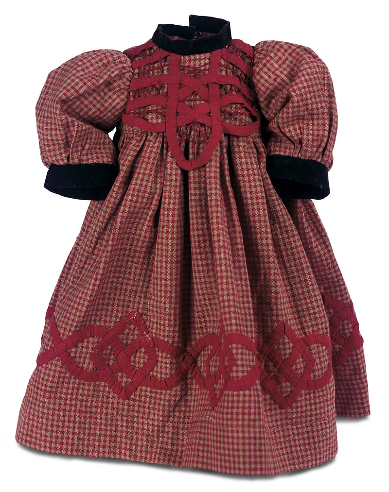 Red and Brown Checkered School Dress