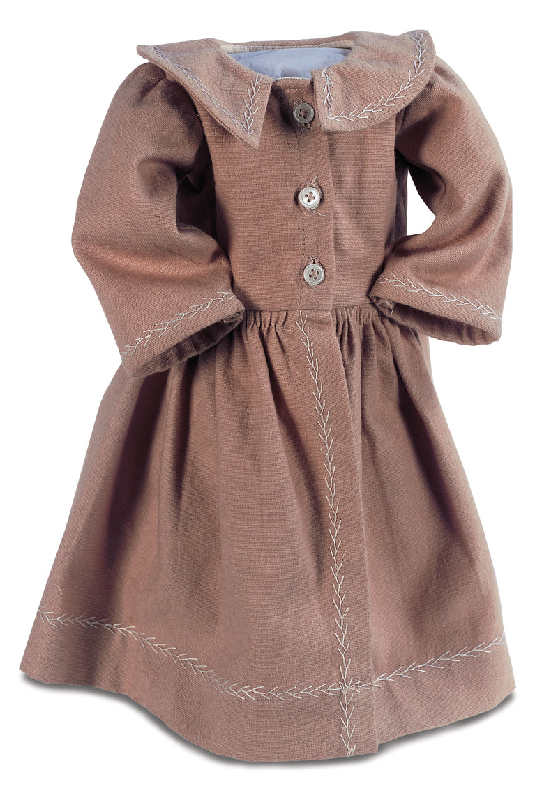 Caramel Cotton-Flannel Coat Dress