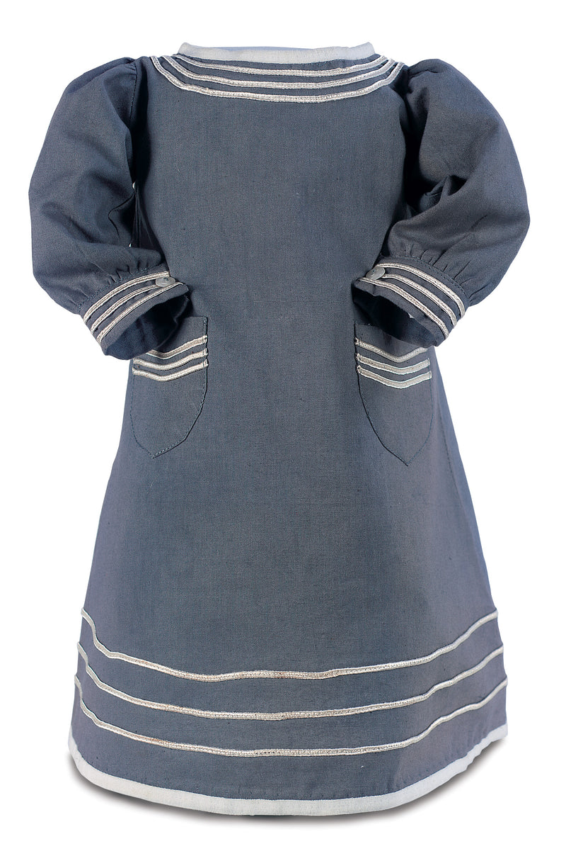 Blue Cotton Smock Dress