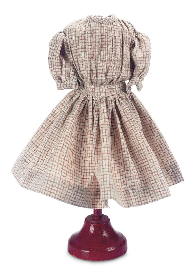 Cotton Window Pane Print School Dress