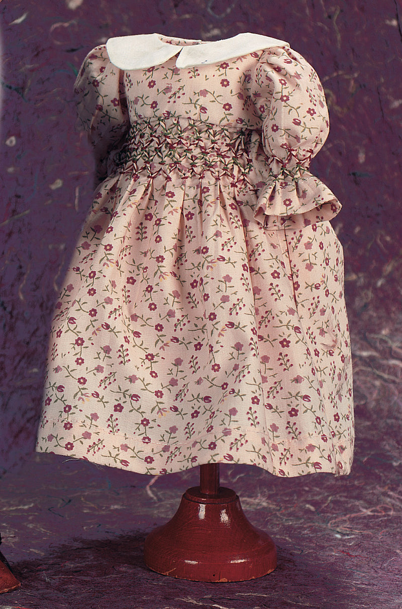 Cotton Print Dress With Two-Color Smock