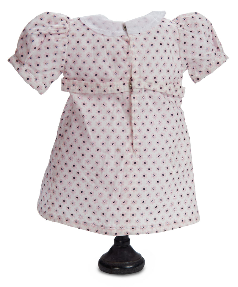 Pink Dotted Dress For Bleuette