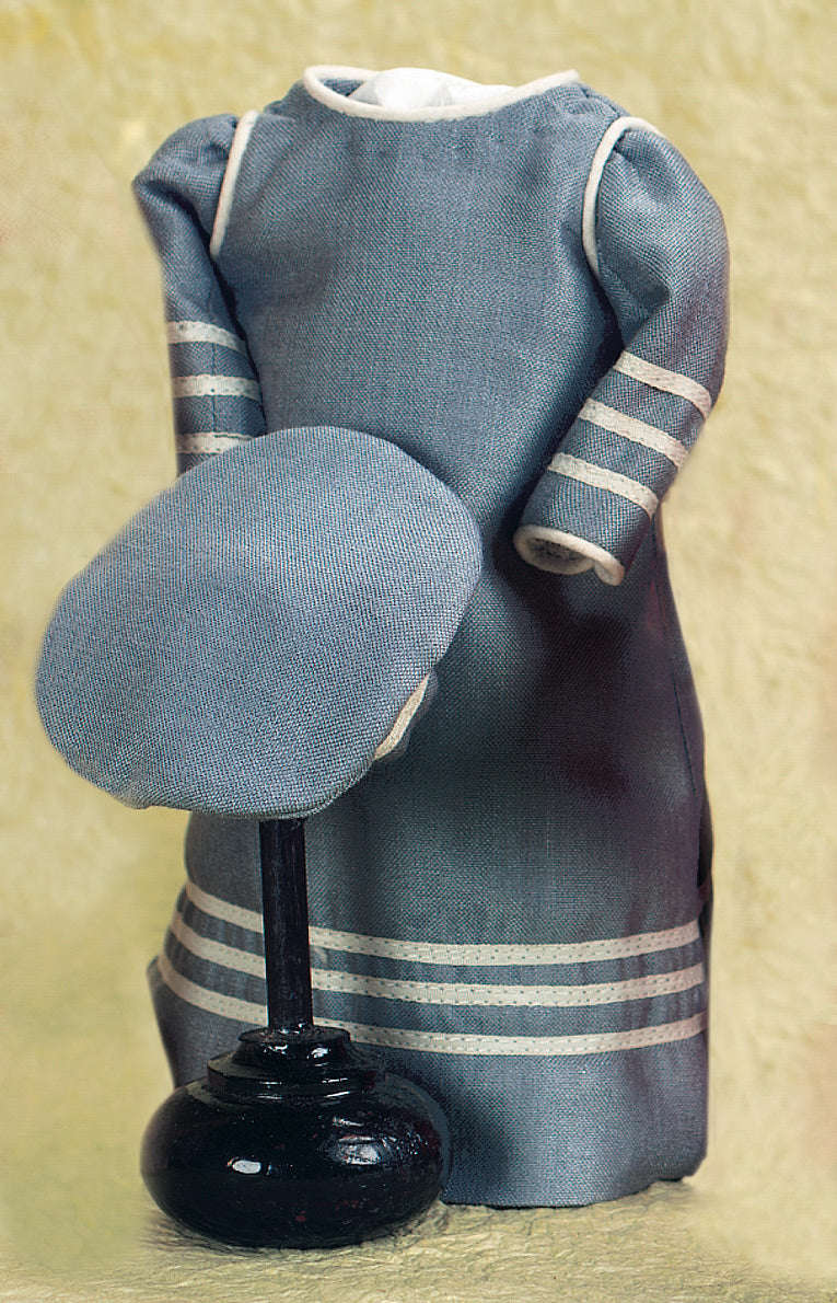 Sailor Dress With Cap In Blue Silk