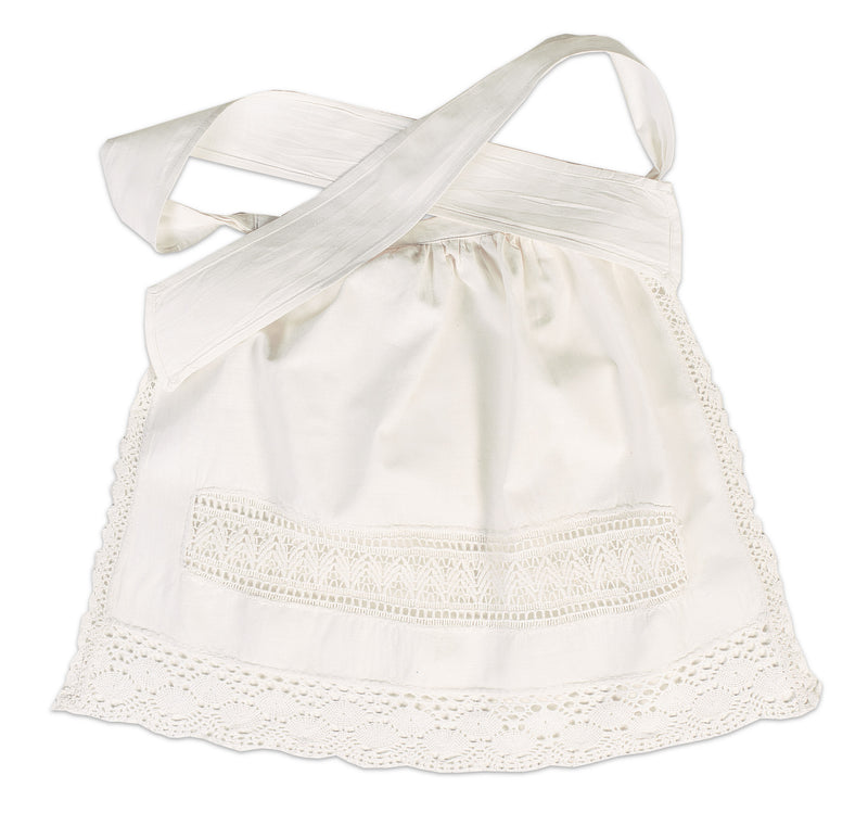 White Cotton Apron With Ties