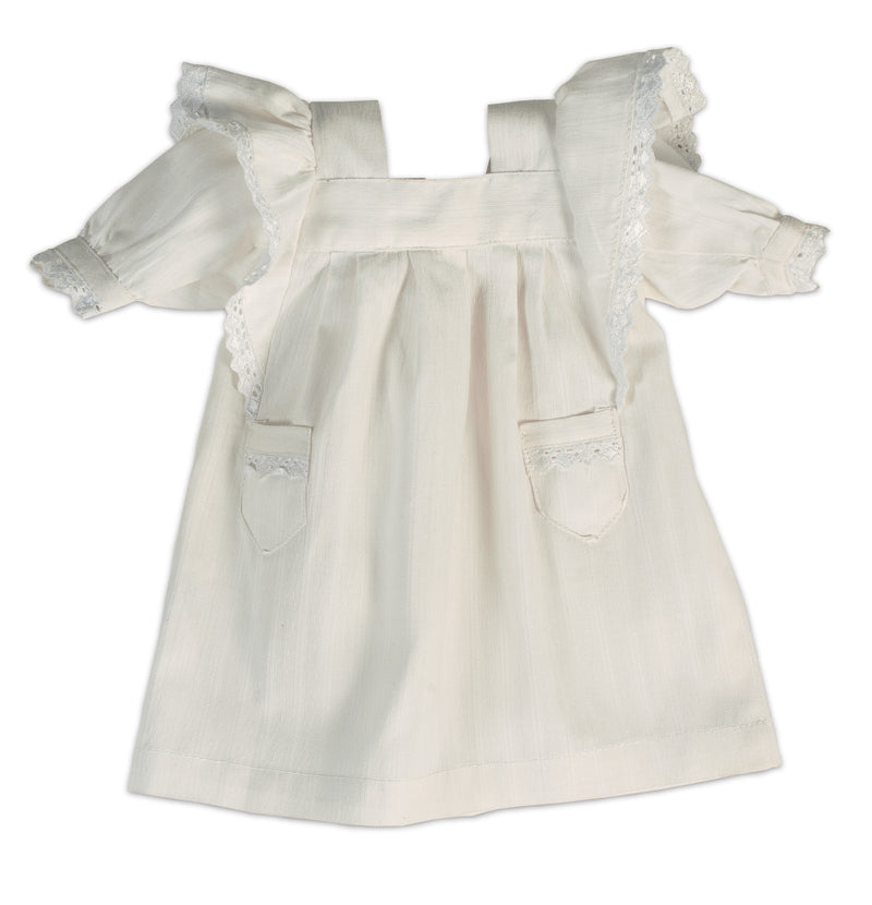 White Pinafore With Pockets