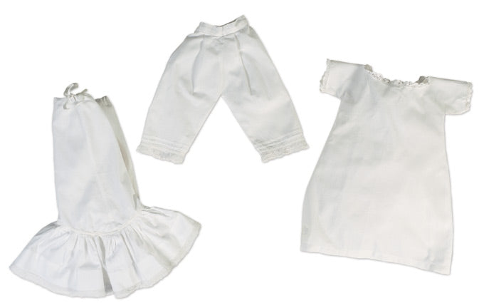 Three Piece White Cotton Fashion Underwear