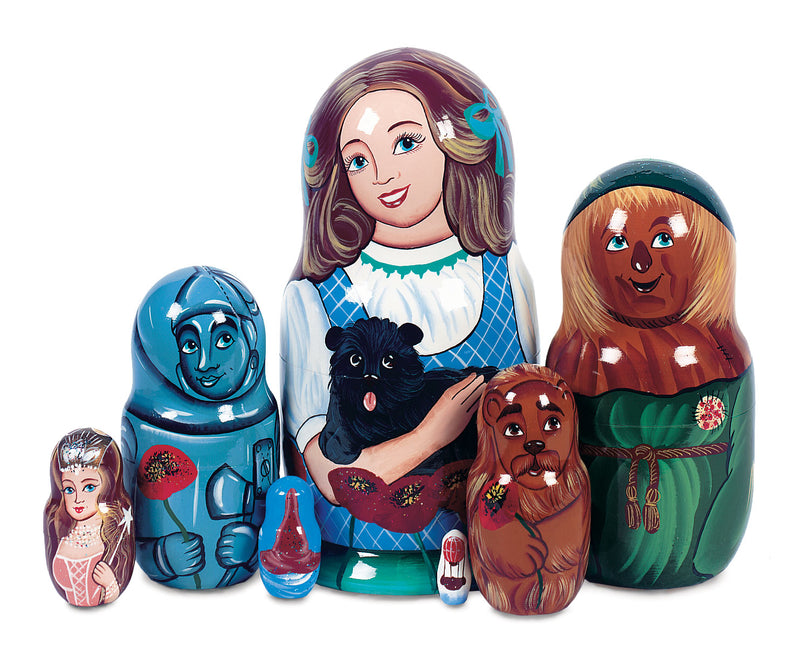 Wizard Of Oz Wooden Nesting Dolls