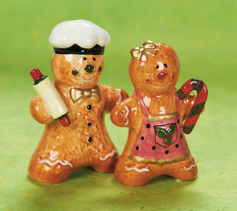 Gingerbread Salt & Pepper Shakers
