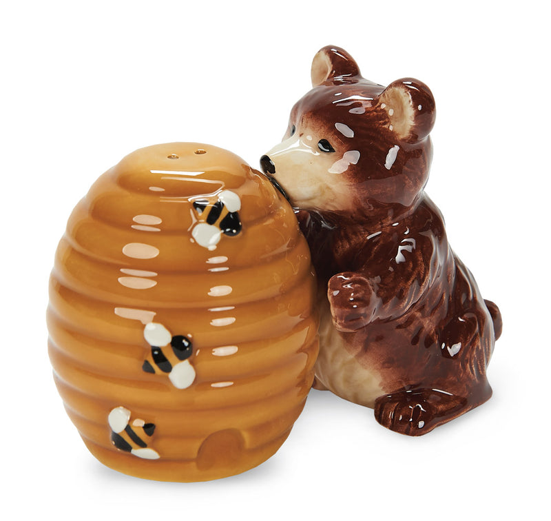 Bear and Honey, a Salt and Pepper Shaker Set