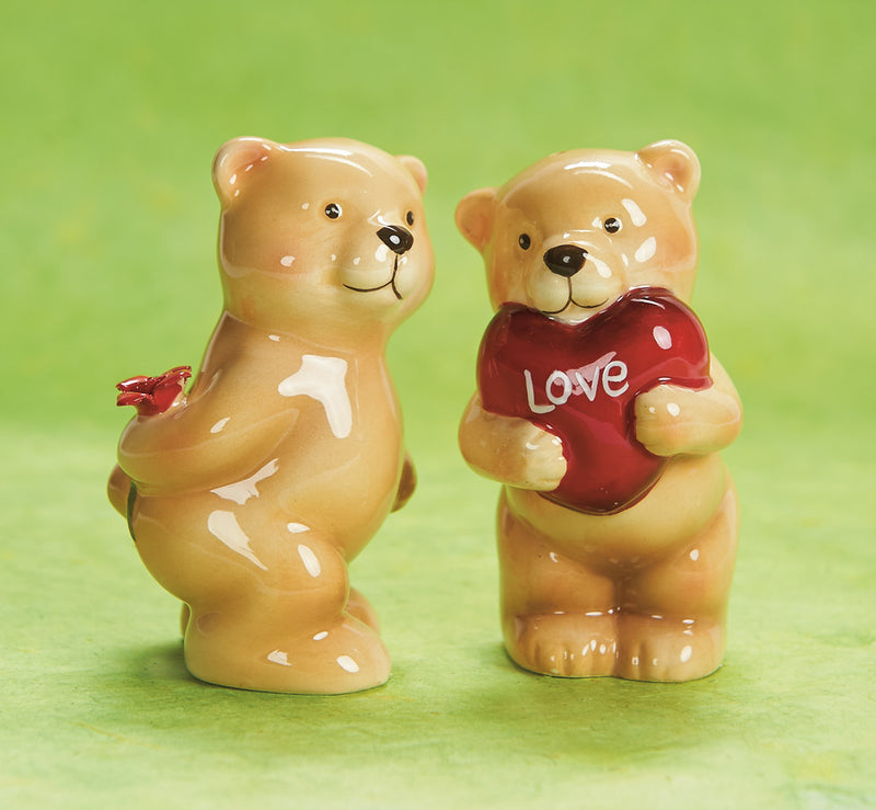 Teddy Bear Love Salt and Pepper Shakers
