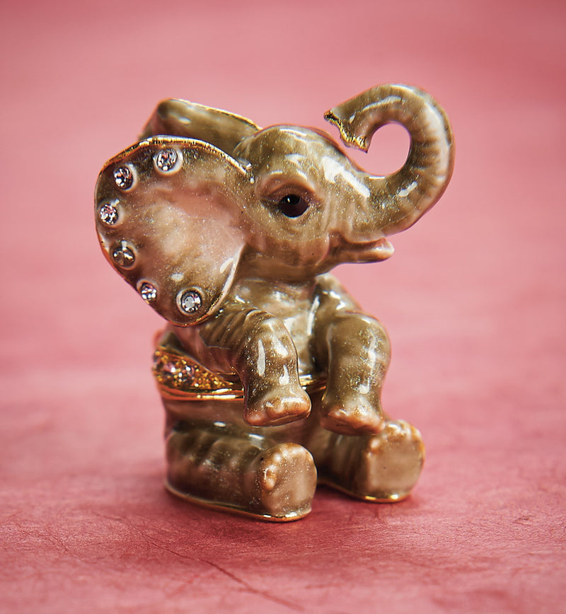 Elephant, a Petite Sized Trinket Box