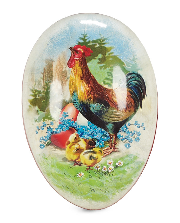 Rooster Paper Mache Egg Container
