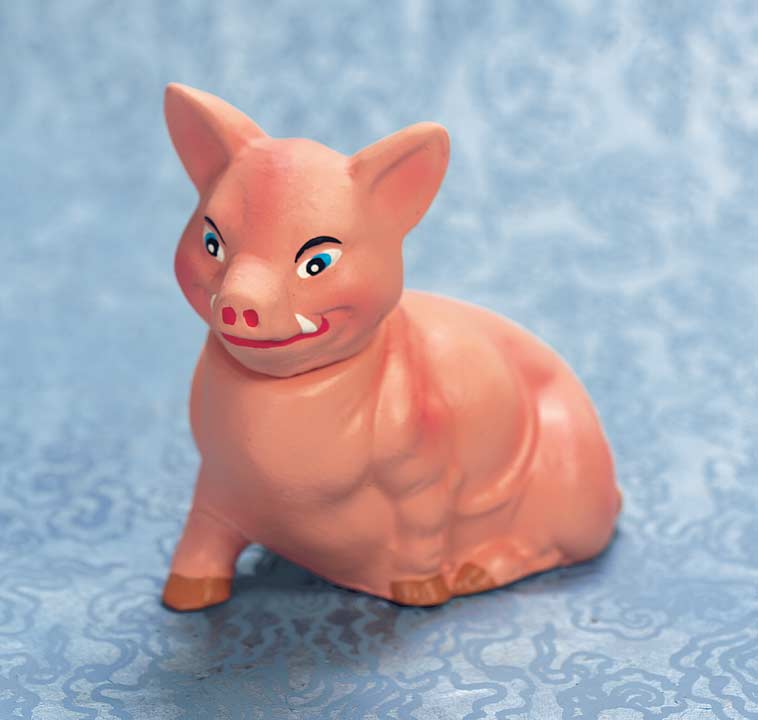 Pink Piglet Candy Container