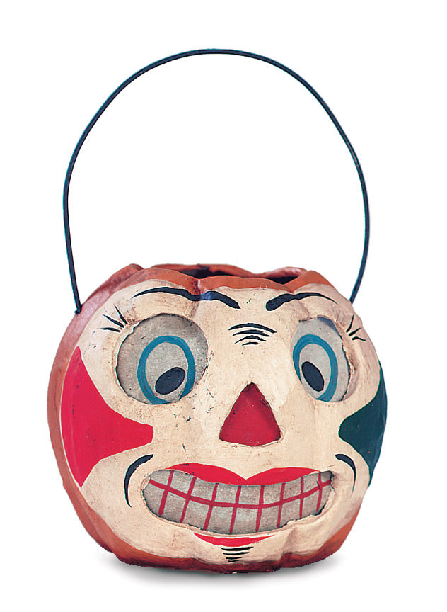Clown Faced Pumpkin Bucket