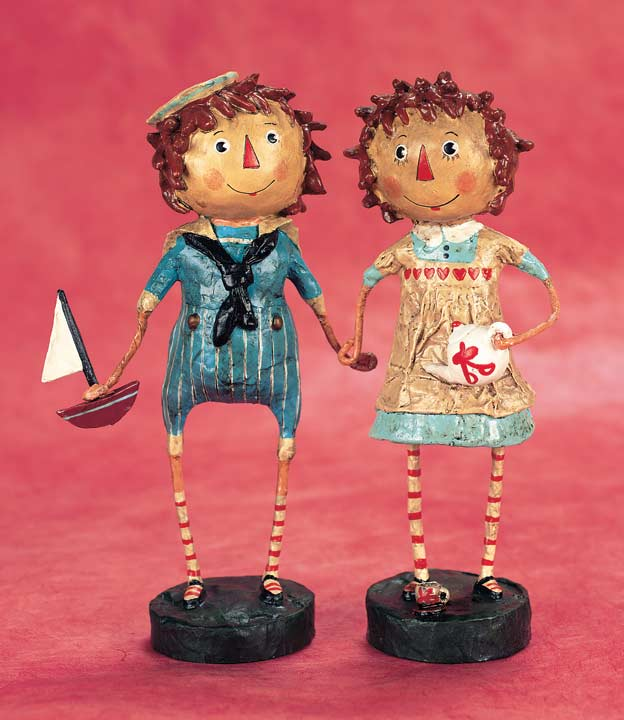A Raggedy Pair, Raggedy Ann and Andy Figurines