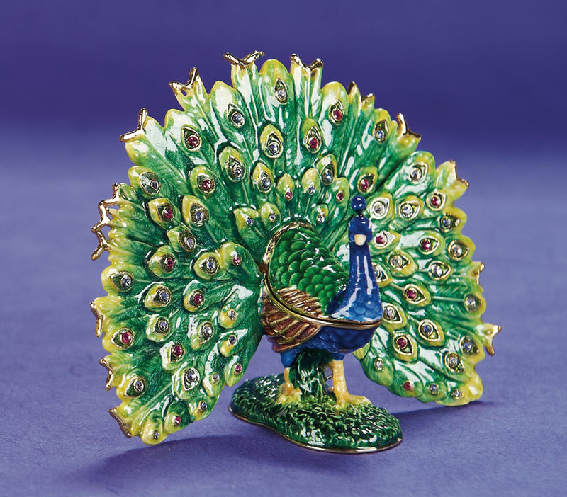 Fancy as a Peacock Trinket Box and Necklace
