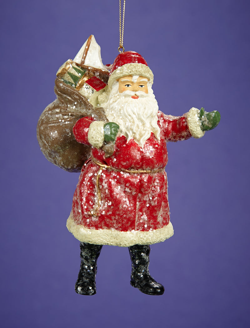 Classic Santa Claus With Sack Of Toys Figure
