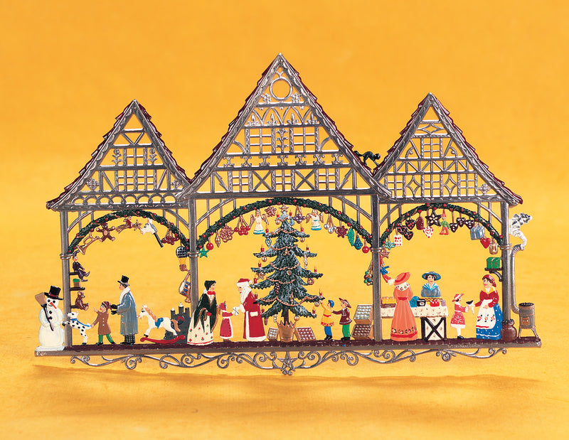 Christmas Market Wall Hanging in Bavarian Pewter