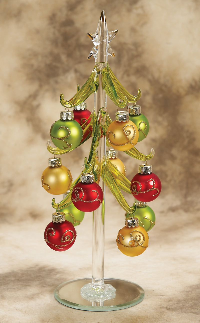 Green Christmas Tree with Gold Star