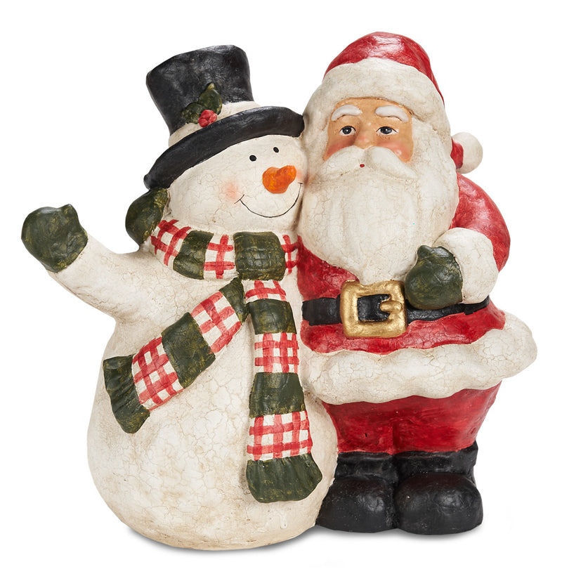 Best Friends, Paper Mache Santa and Snowman