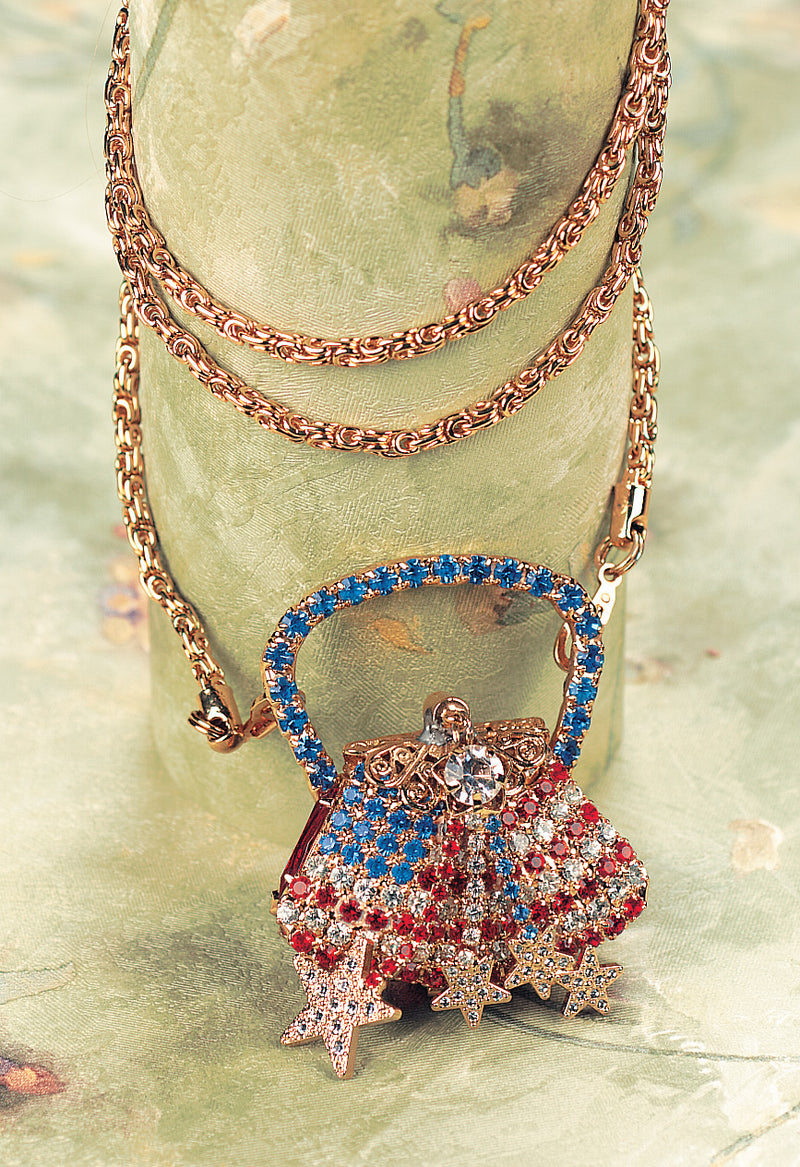 Patriotic Purse Necklace