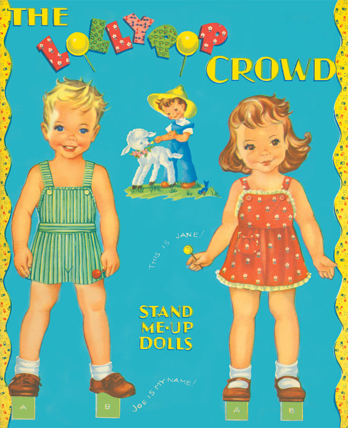 Lollypop Crowd Paper Doll Book