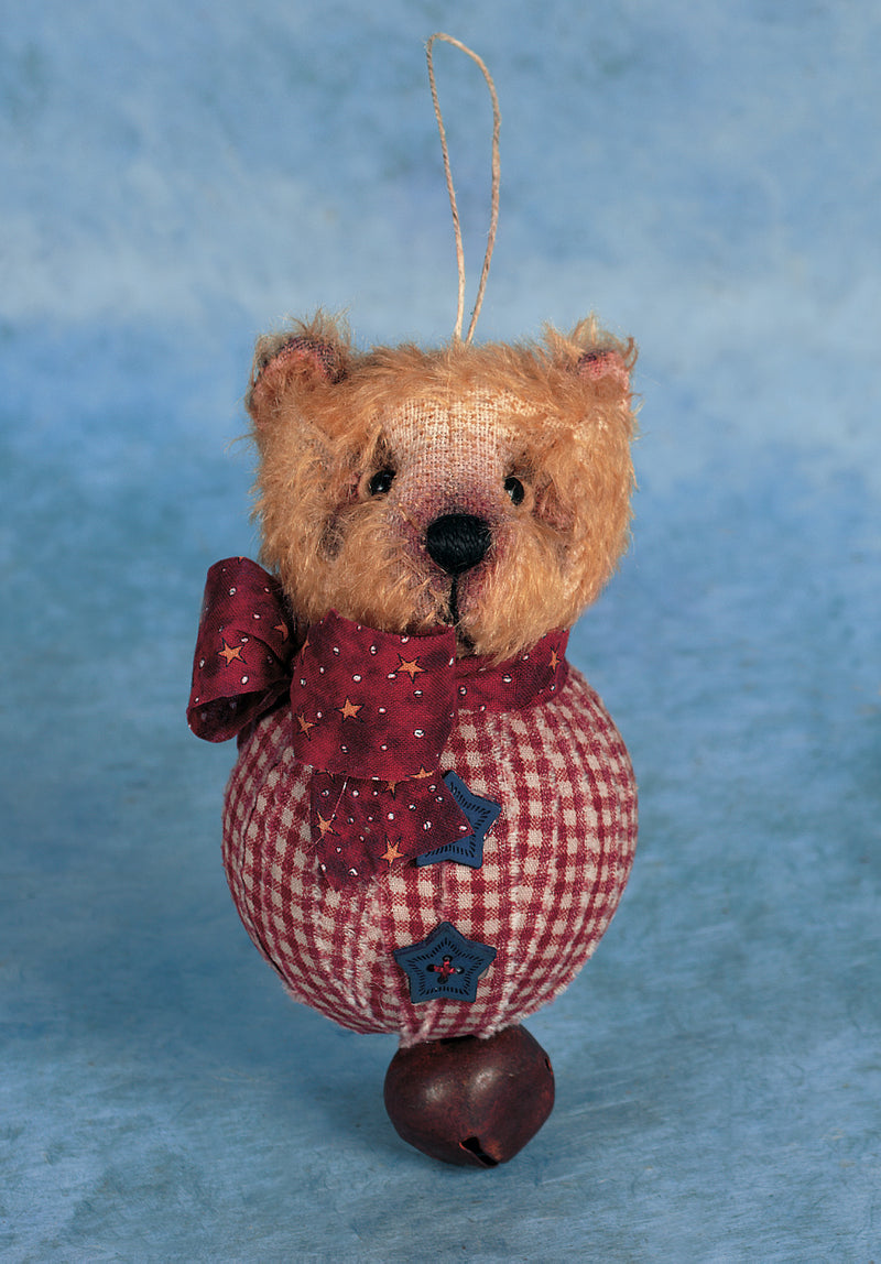 Raggedy Teddy Bear Ornament By Jare Hare
