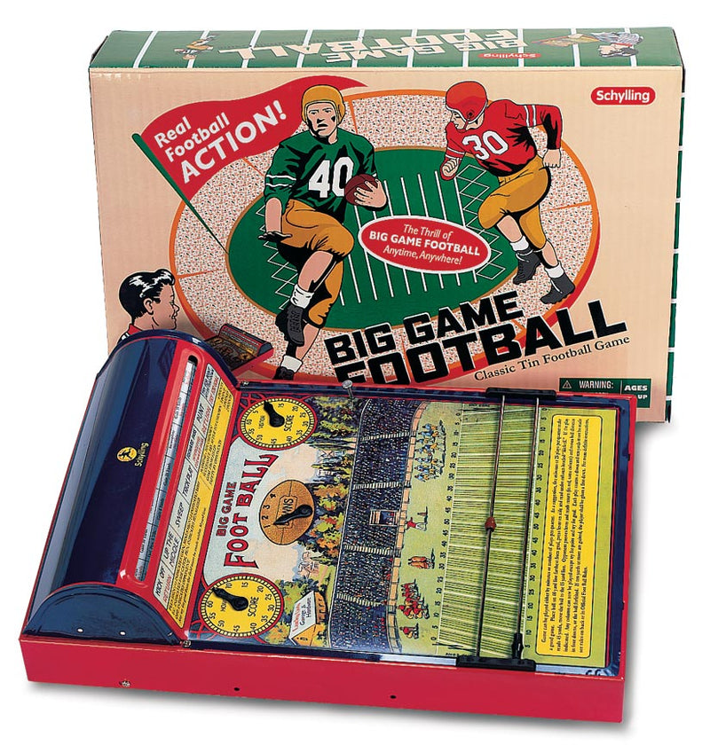 Big Game Football, A Vintage Style Tin Toy Game