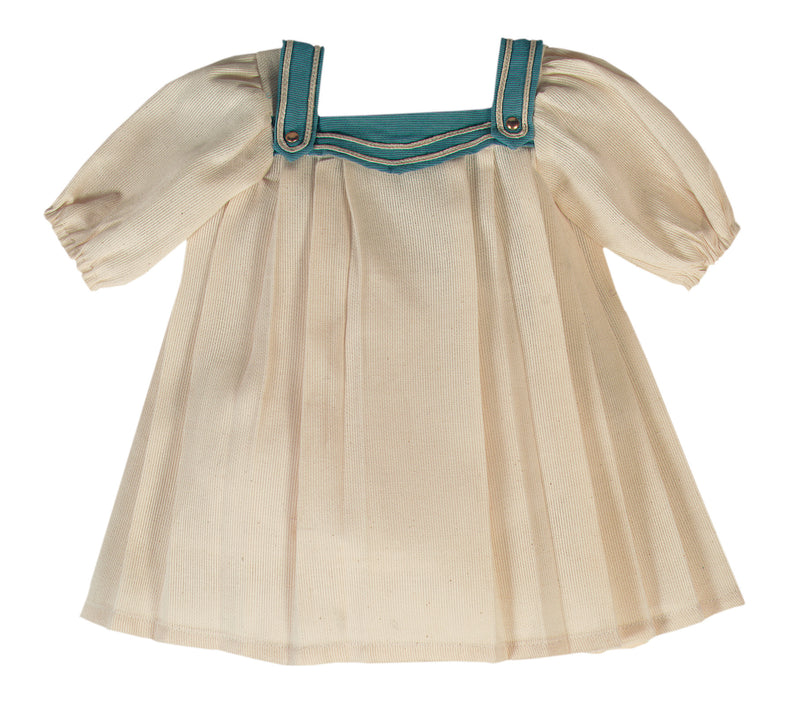 Cream Twill Sailor Dress With Undergarments