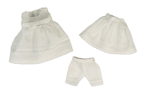 Three Piece White Cotton Undergarments
