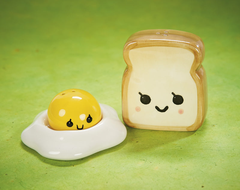 Egg and Toast, a Salt and Pepper Shaker Set