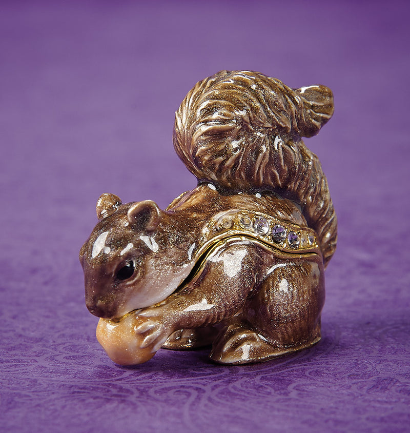 Playful Squirrel Trinket Box