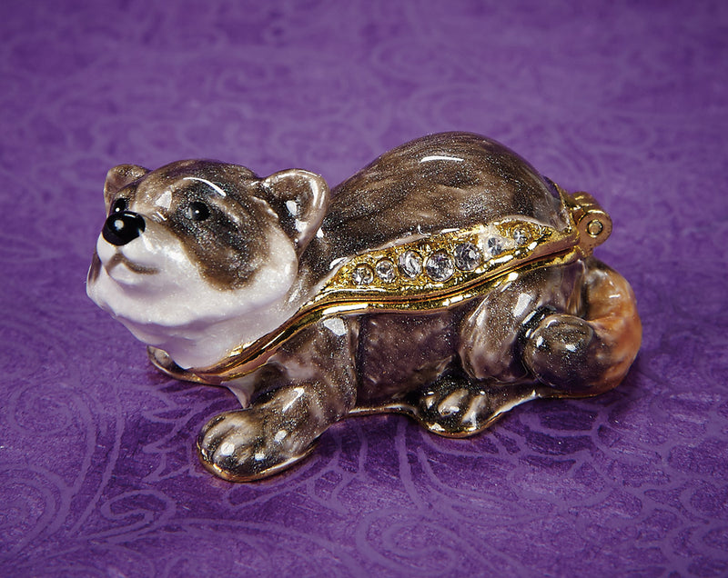 Curious Raccoon Trinket Box