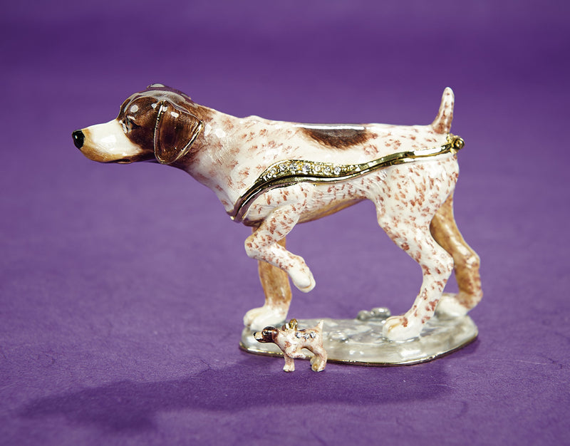 German Pointer Trinket Box and Necklace