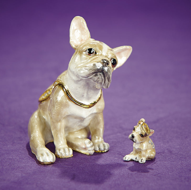 French Bulldog Trinket Box and Necklace