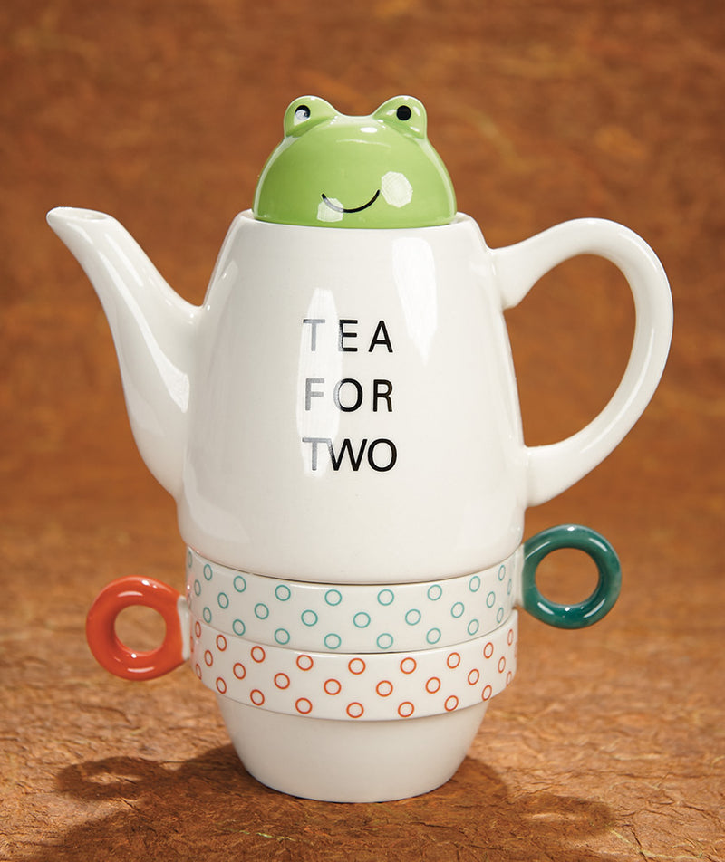 Stacking Frog Tea Set