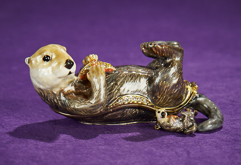 Sea Otter Trinket Box and Necklace