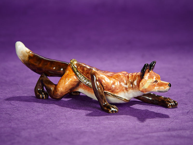 Sneaky Fox Trinket Box with Necklace