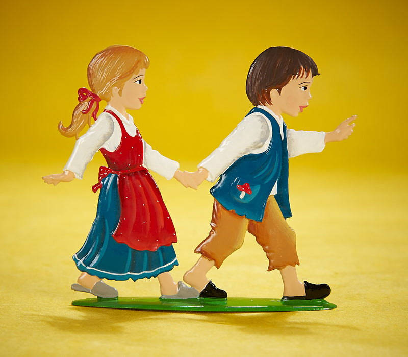 Standing Hansel & Gretel, in Bavarian Pewter