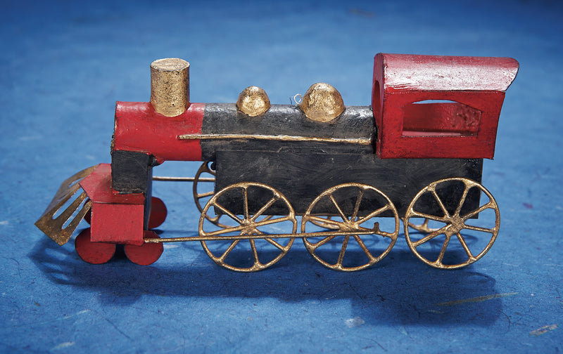 Tin Train Ornament