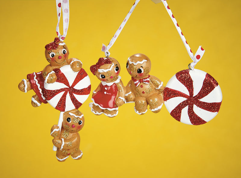 Gingerbread Lollipop Ornaments