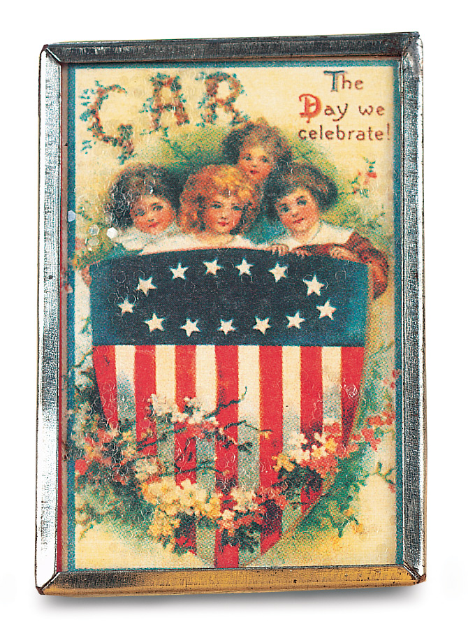 The Day We Celebrate Patriotic Vintage Pin