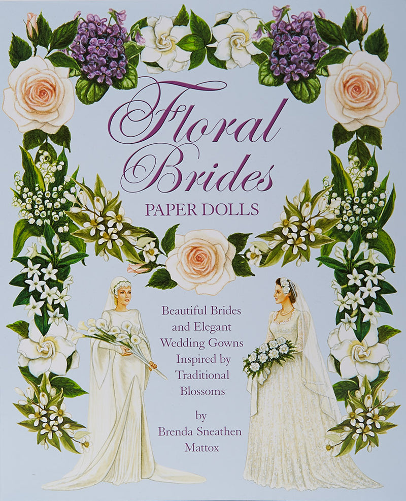 Floral Brides Paper Doll Book
