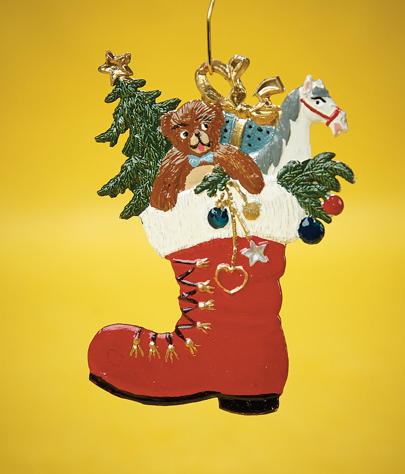 Santa's Boot of Toys Ornament