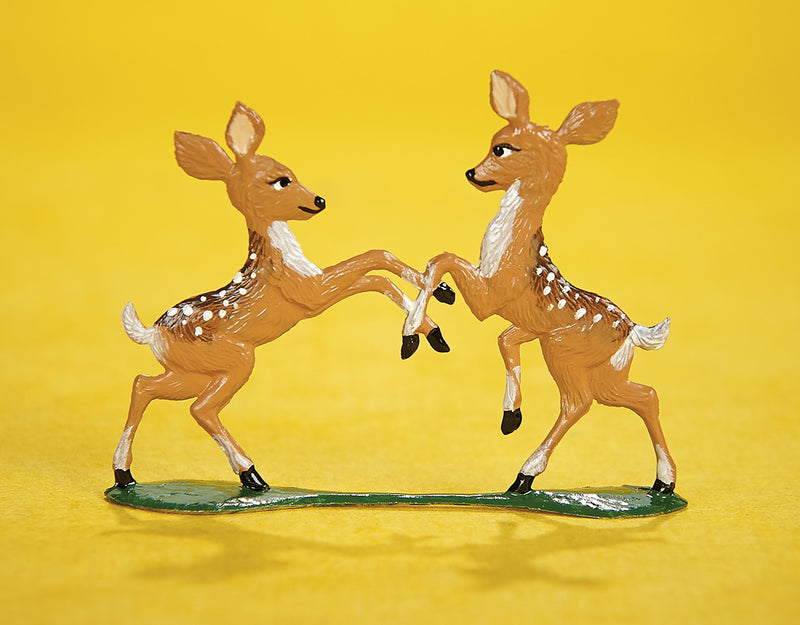 Playful Fawns Bavarian Pewter Art
