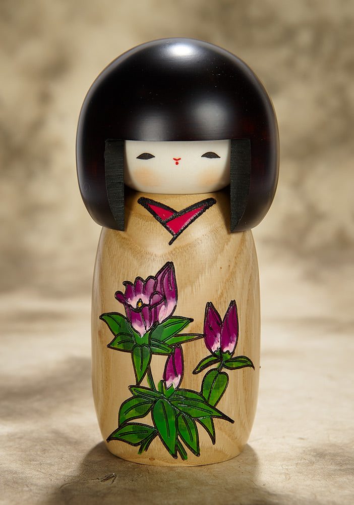 Rindo Flower Kokeshi Doll