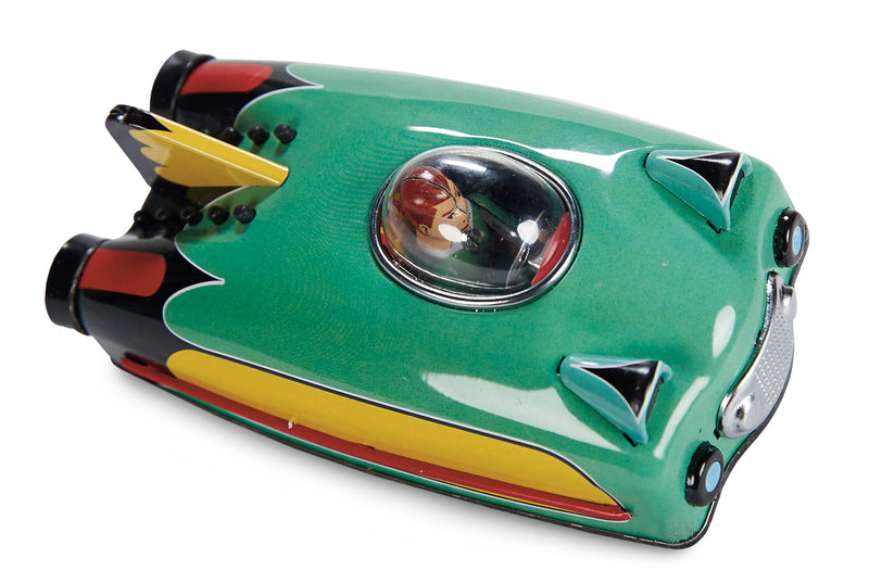 Future Car - Green, a MechanicalTin Toy